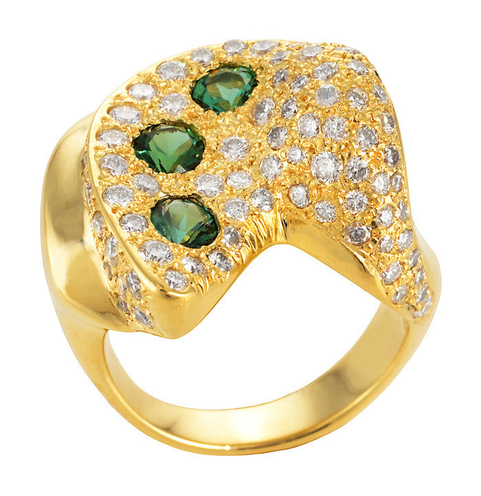 Gordon Aatlo Green Tourmaline and Diamond Ring - Legacy Collection