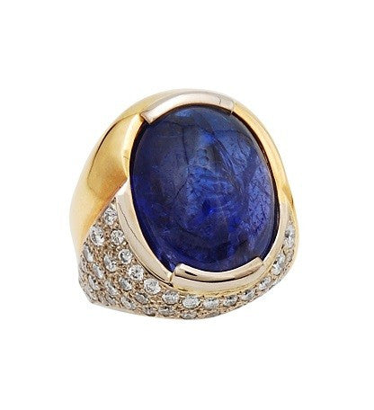 Gordon Aatlo Legacy Collection: Tanzanite Cabochon Ring - Aatlo Jewelry Gallery