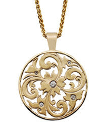 Gordon Aatlo Designs: 14k Yellow Gold Five Diamond Genoa Pendant - Aatlo Jewelry Gallery