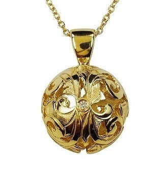 Gordon Aatlo Designs 14k Gold Domed Ana Diamond Pendant - Aatlo Jewelry Gallery