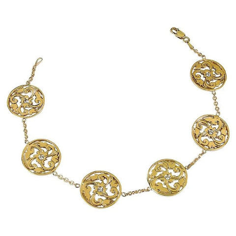 Gordon Aatlo Designs 14k Genoa Bracelet with Diamonds - Aatlo Jewelry Gallery
