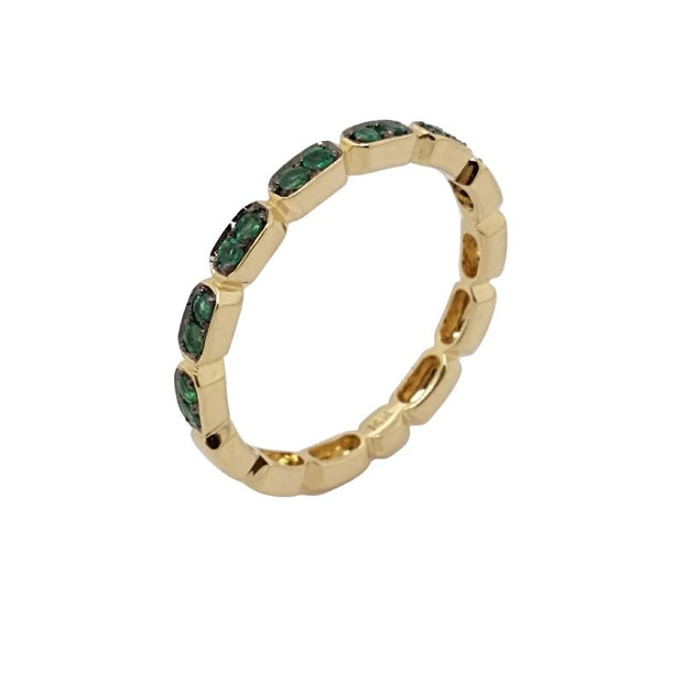 14K Yellow Gold And Emerald Stacking Ring - Aatlo Jewelry Gallery