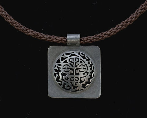 Mahina La Sterling Silver Oxidized Pendant - Aatlo Jewelry Gallery