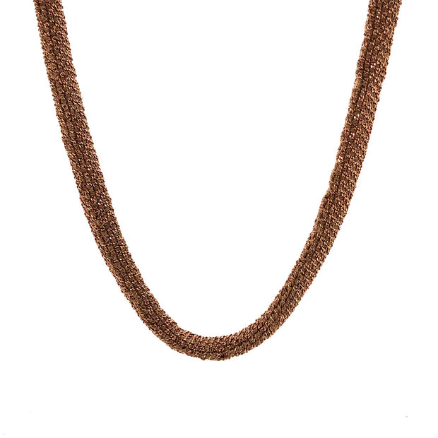 Peter Storm Rose Silk with Rose Gold Beads Necklace