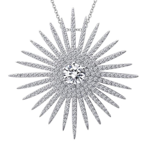 Lafonn Glam Collection Diamond Starburst Pendant