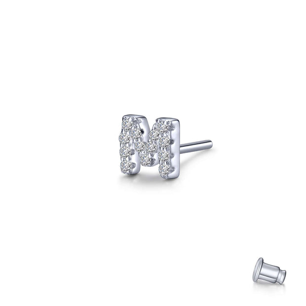 Lafonn Lassaire Diamond Single M Stud Earring