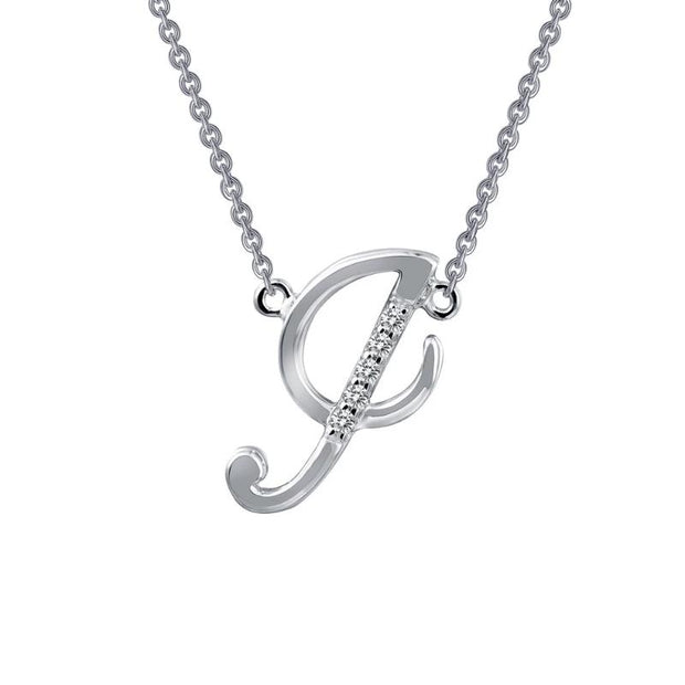 Lafonn Designer Diamond Script Letter Initial Necklace for Initials G-L - Aatlo Jewelry Gallery
