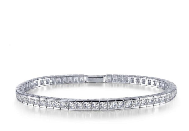 Lafonn Classic Lasairre Diamond Princess Cut Tennis Bracelet In White - Aatlo Jewelry Gallery