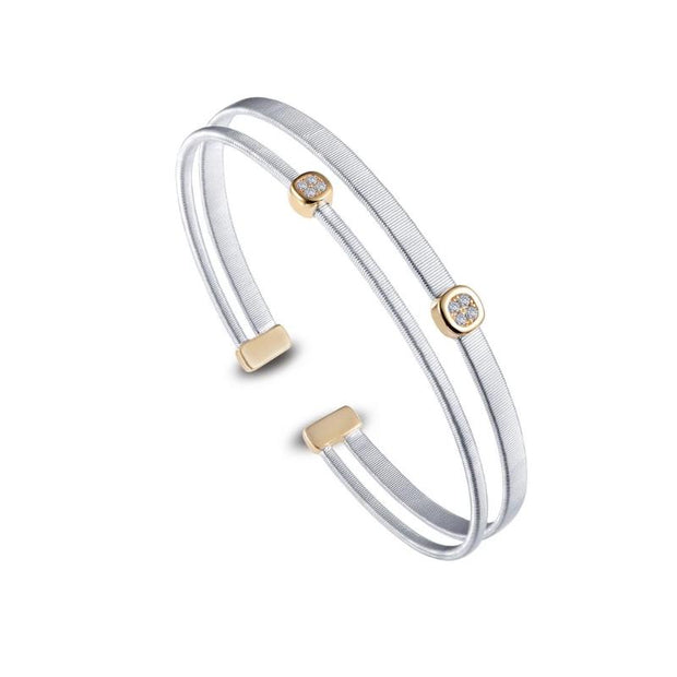 Lafonn Two Tone  Diamond Bangle - Aatlo Jewelry Gallery
