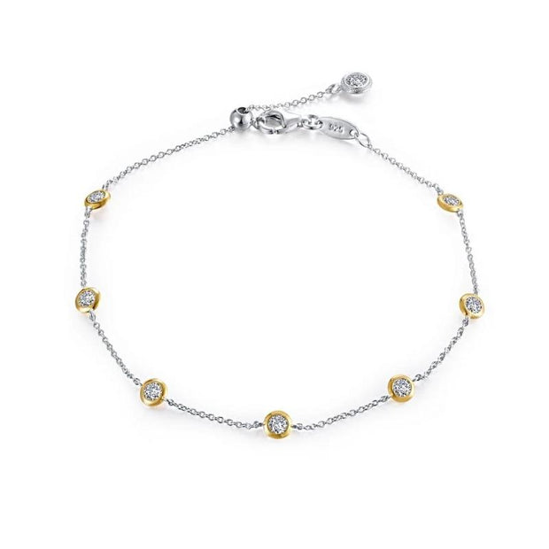 Lafonn Two Tone Lassaire Adjustable Diamond Bracelet - Aatlo Jewelry Gallery