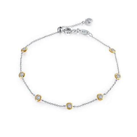 Lafonn 7 Symbols Of Joy Two Tone Lassaire Diamond Bracelet