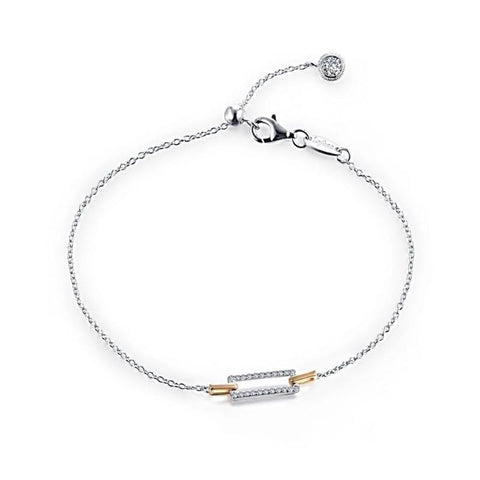 Lafonn Classic Collection Lassaire Diamond Two Tone Bracelet