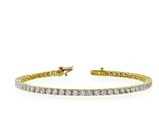 Lafonn Round Diamond Gold Tennis Bracelet - Aatlo Jewelry Gallery