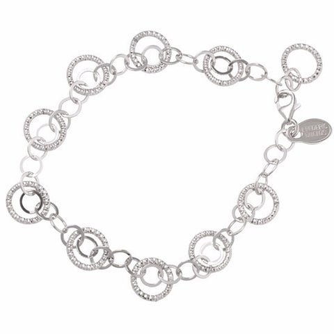 Frederic Duclos Sterling Silver Circles Galore Bracelet - Aatlo Jewelry Gallery