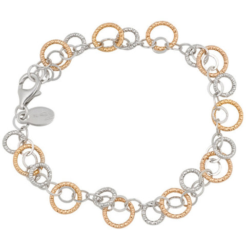 Frederic Duclos Sterling Silver And Rose Gold Plated Bracelet - Aatlo Jewelry Gallery