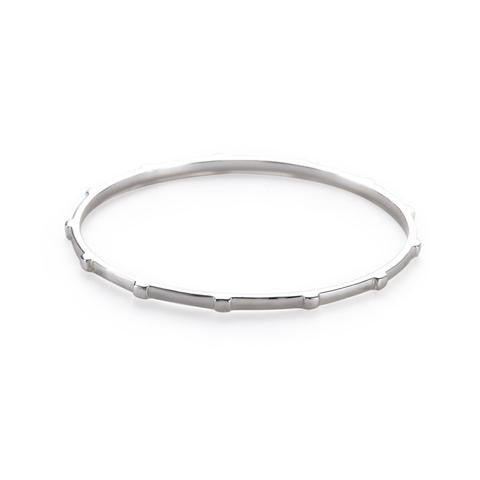 Julie Vos Thin Sterling Silver Chloe Bangle