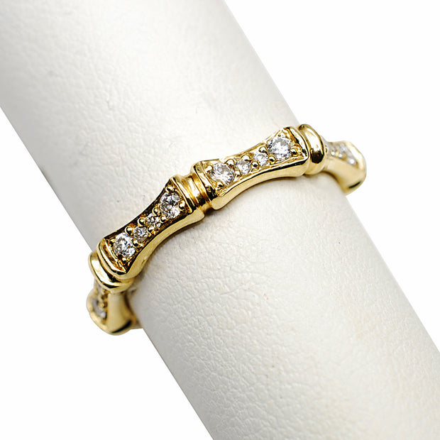 14k Yellow Gold Designer Diamond Band - Aatlo Jewelry Gallery