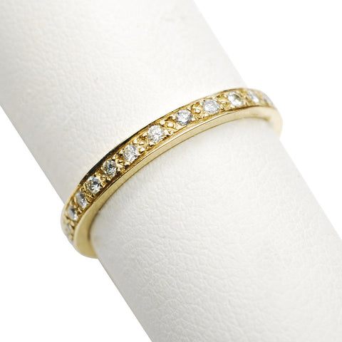 14k Yellow Gold Diamond Eternity Band - Aatlo Jewelry Gallery