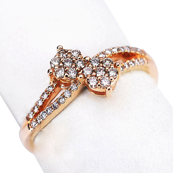 "14k Rose Gold and Diamond Ring ""Ever Us"""