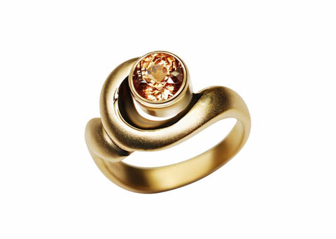 Gordon Aatlo Designs 14k Yellow Gold Zircon Ring - Aatlo Jewelry Gallery