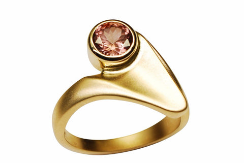 Gordon Aatlo Designs 14k Yellow Gold Pink Zircon Ring - Aatlo Jewelry Gallery