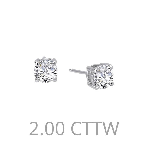 Lafonn Two Carat Diamond Stud Earrings - Aatlo Jewelry Gallery