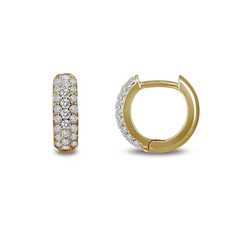 Lafonn Classic Collection Lassaire Diamond Huggy Hoop Earrings