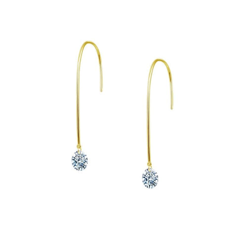Lafonn Long Lassaire Diamond Drop Earrings