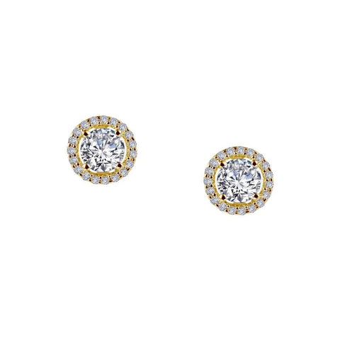 Lafonn Classic Round Halo Diamond Stud Earrings - Aatlo Jewelry Gallery