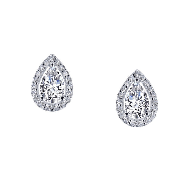Lafonn Lassaire Diamond Pear Shaped Stud Earrings