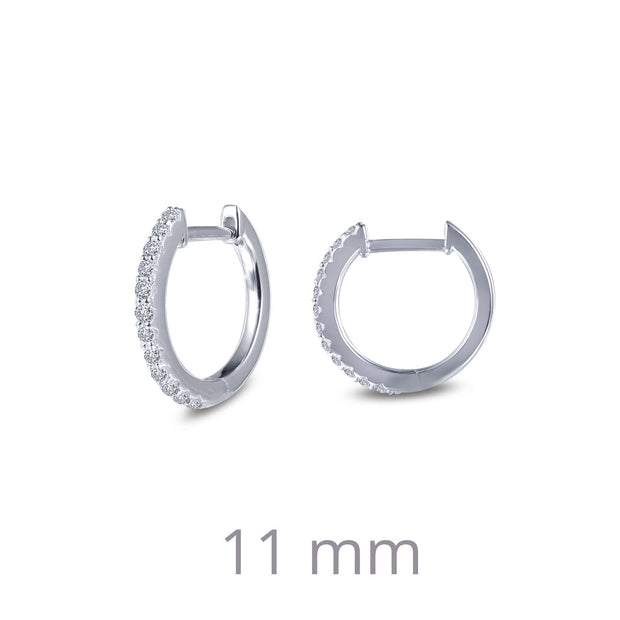 Lafonn Lassaire Diamond Dainty Huggie Hoop Earrings