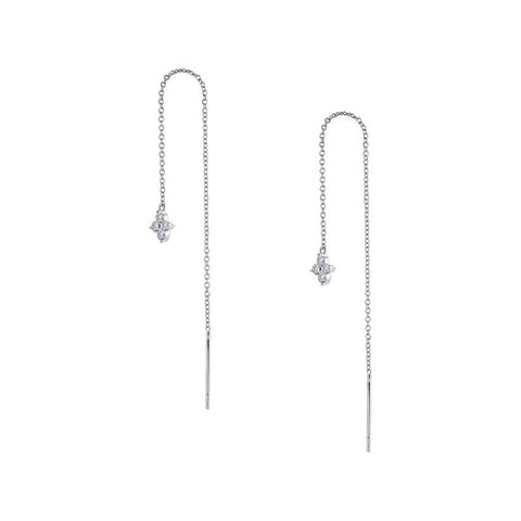 Flower Treader Lassaire Diamond Drop Earrings - Aatlo Jewelry Gallery
