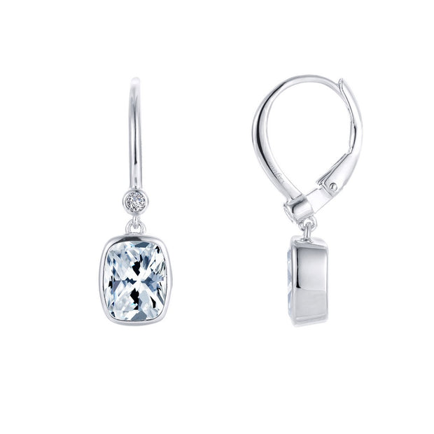 Lafonn Lassaire Diamond Bezel Set Drop Earrings