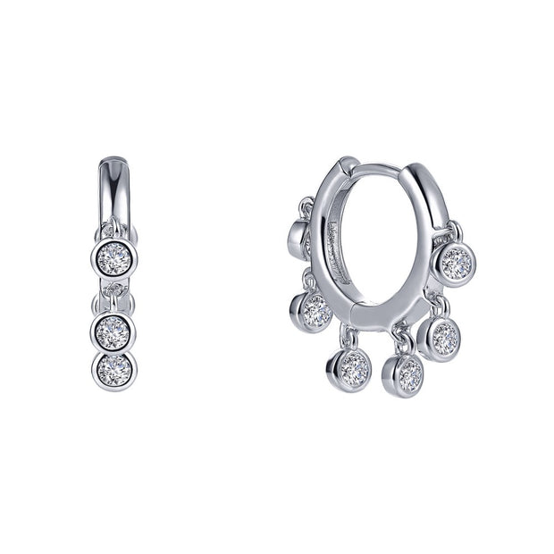 Lafonn Lassaire Diamond Dangling Huggie Earrings
