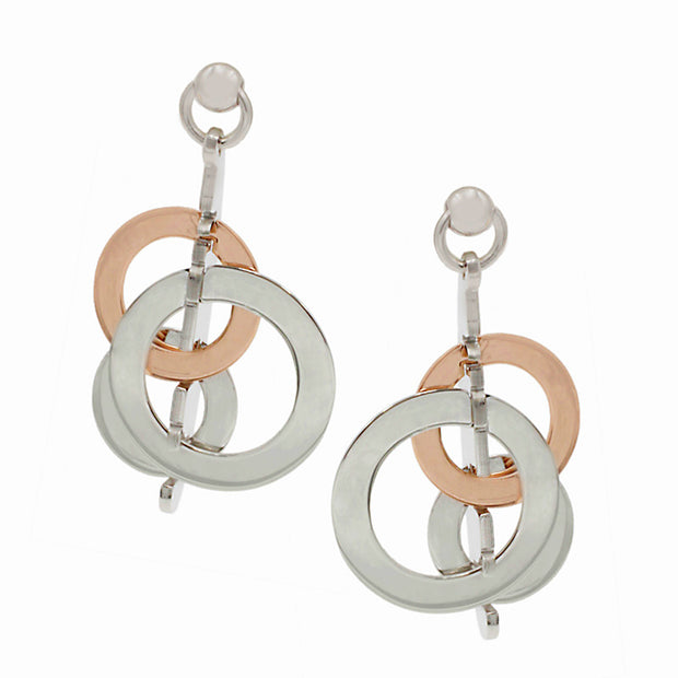 Frederic Duclos Sterling Silver and Rose Gold Scarlett Earrings - Aatlo Jewelry Gallery