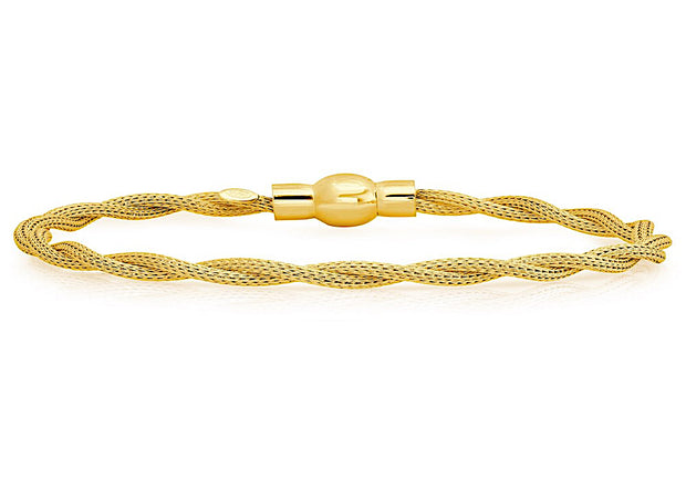 Peter Storm Twisted Yellow Gold Cable Bracelet with Magnetic Clasp