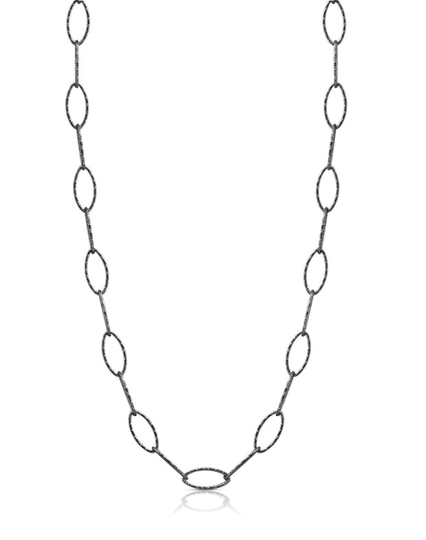 Peter Storm Black Diamond Cut 18 Inch Loop Necklace