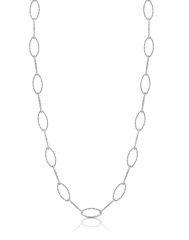 Peter Storm Sterling Silver Diamond Cut 36 Inch Loop Necklace
