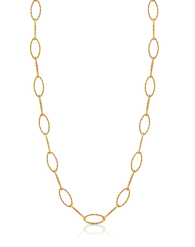 Peter Storm Yellow Gold Diamond Cut 18 Inch Loop Necklace