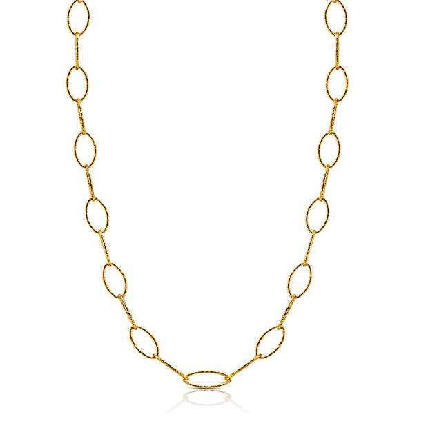 Peter Storm Diamond Cut Yellow Gold Loop 36 Inch Necklace