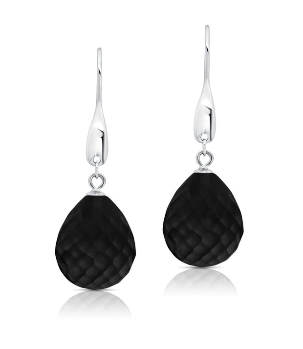 Peter Storm Faceted Black Onyx Drop Earrings