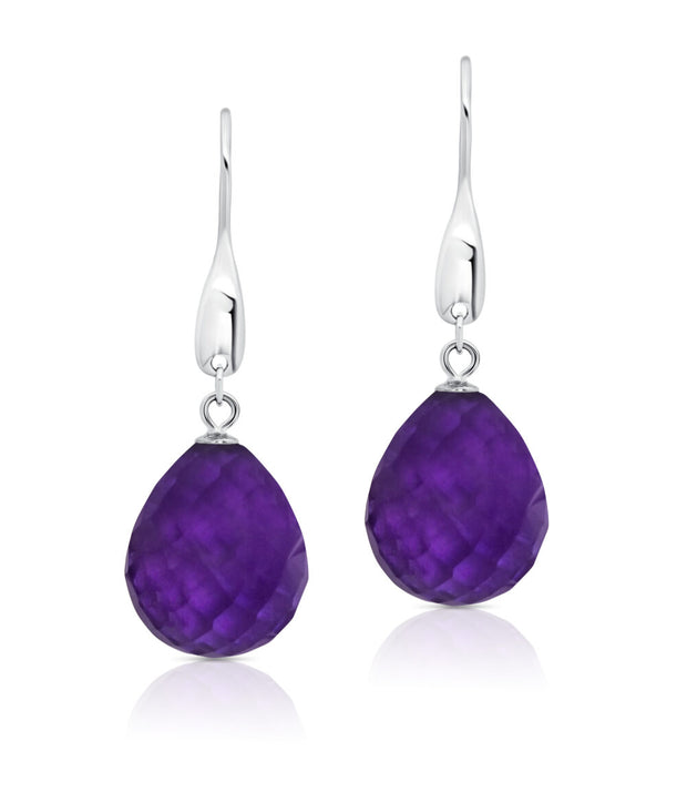Peter Storm Faceted Amethyst Drop Earrings
