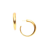 Julie Vos 24k Yellow Gold Plated Hammered Hoop Earrings - Aatlo Jewelry Gallery