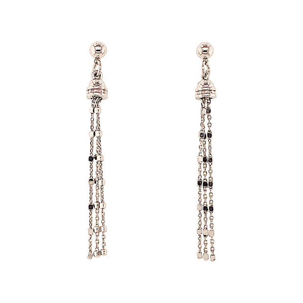 Peter Storm Sterling Silver Multi Chain Drop Earrings