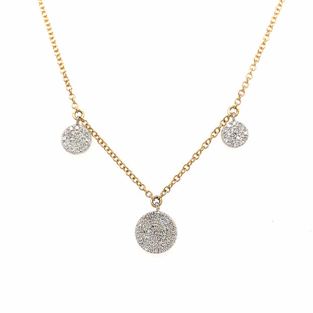14k Yellow Gold Delicate Diamond Drop Necklace - Aatlo Jewelry Gallery