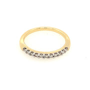 14k Yellow and White Gold Quarter Carat Diamond Diamond Band