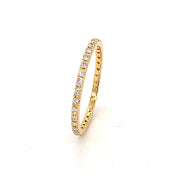 14k Yellow Gold Skinny Diamond Eternity Band