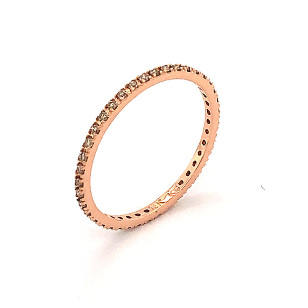 14k Rose Gold Skinny Diamond Eternity Ring