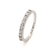 14k White Gold and Quarter Carat of Diamonds Band