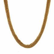 Peter Storm Woven Yellow Silk Necklace
